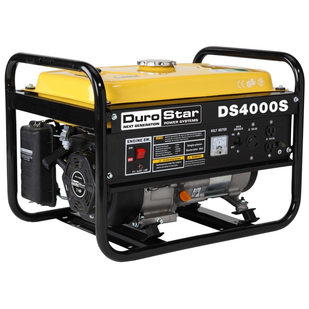 DuroStar DS4000S 3300 Running Watts 4000 Starting Watts, Gas Powered Portable Generator